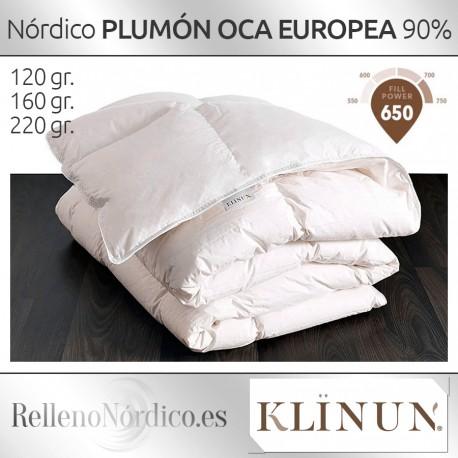 Como Lavar Un Edredon De Plumon.Relleno Nordico 90 Plumon Oca Blanca Europea De Klinun