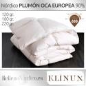 Relleno Nórdico Plumón Oca Blanca Europea de Klinun