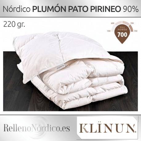 Relleno Nórdico Plumón Pato Pirineos 220gr de Klinun