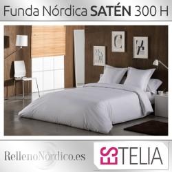 Juego Funda Nórdica SATÉN 300 Hilos de Es-telia