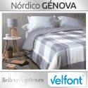 Nórdico GÉNOVA color Acero Velfont Cama 150/160 OUTLET