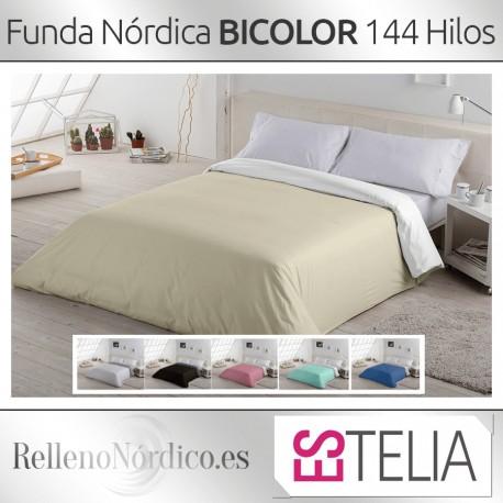 Juego Funda Nórdica LISO BICOLOR de Es-tela