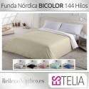 Funda Nórdica Liso BICOLOR de Estelia