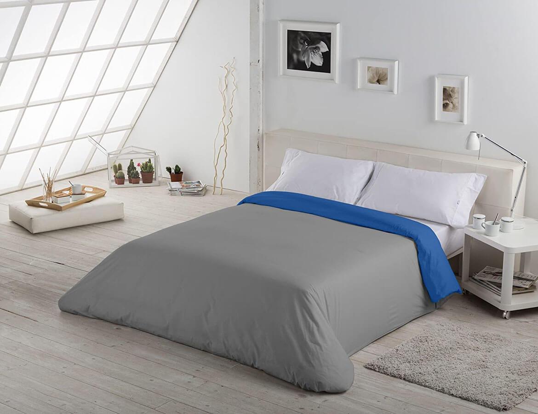 Liso Bicolor Plomo-azul