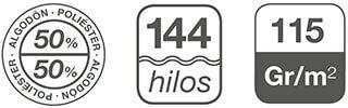 fundas nordicas de 144 hilos